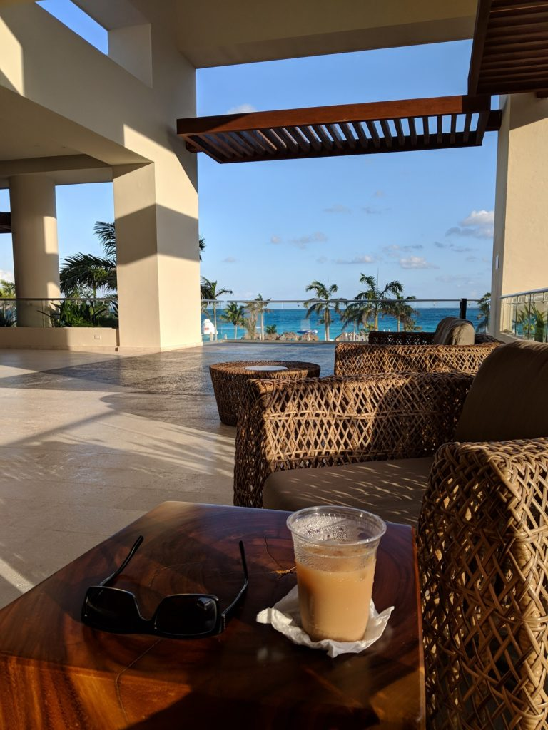 Relaxing with Iced Coffee at Hyatt Ziva Cancun