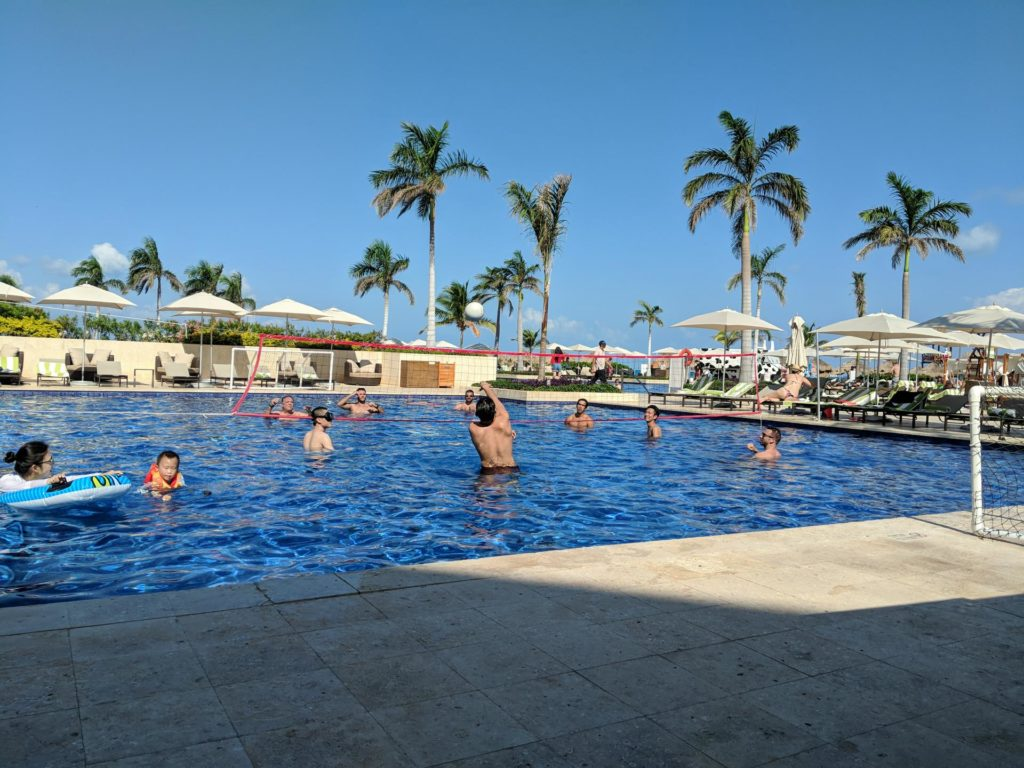 Pool Volleyball at Hyatt Ziva Cancun